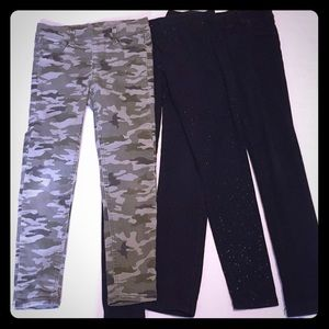 3 pairs of girls size small and size 7 pants